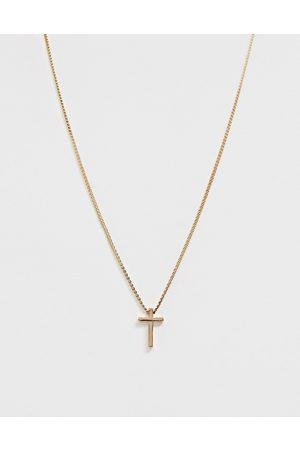 ASOS Goldfarbene Halskette mit kleinem Kreuzanhänger