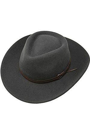 Borges & Scott Borges & Scott Hardy - Leichter Fedora Hut mit breiter Krempe und Lederband - 100% Wollfilz - Für die Reise knautschbar - Wasserabweisend - 62cm