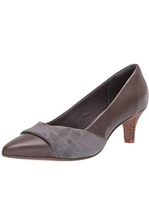 Clarks Clarks Damen Linvale Vena Grey Leather/Nubuck Combi 38.5 M EU