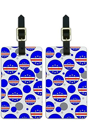 Graphics and More Graphics & More C-Cape Verde Nationalflagge (Weiß) - Luggage.Tags.09554