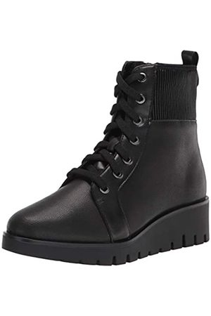 Anne Klein Anne Klein Damen Schnürschuh Keilabsatz Bootie Mode Stiefel, (schwarzes Leder)