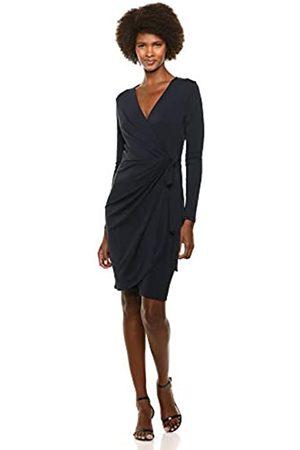 Lark & Ro Long-Sleeve Wrap Business Casual Dress
