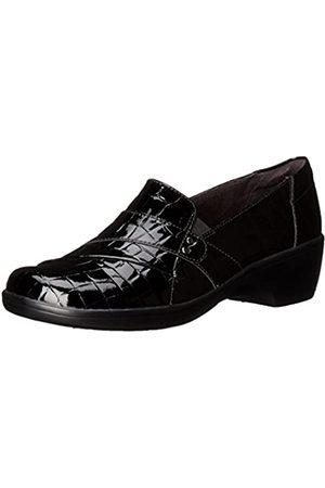 Clarks CLARKS Women's May Marigold Slip-On Loafer, Black Crocodile