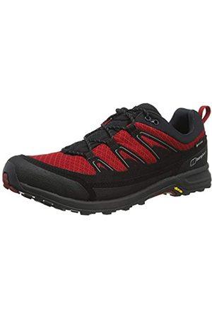 Berghaus Herren Explor Ft Active GTX Tech Shoe Trekking- & Wanderhalbschuhe, Mehrfarbig (Jet Black/Haute Red Dr1)
