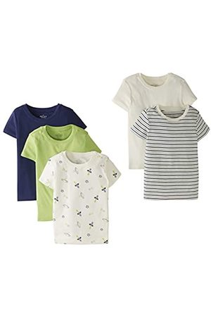 Moon and Back by Hanna Andersson Moon and Back by Hanna Andersson 5 Pack Crew Neck Tee Novelty-t-Shirts, 3T