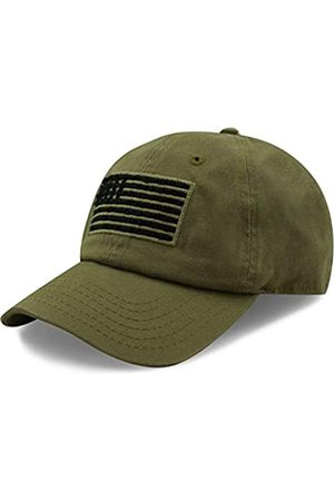 The Hat Depot The Hat Depot Tactical Operator USA Flag Low Profile Baseball Army Military Cap - Gr�n - Einheitsgröße