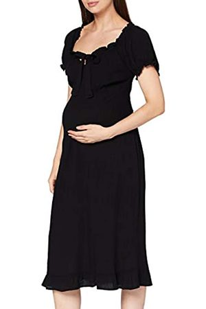 Dorothy Perkins Damen Maternity Black Milkmaid Crinkle Dress Lässiges Kleid