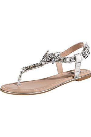 Buffalo Buffalo Shoes Damen 14S07-21 Zehentrenner, Grau (Silver 000)