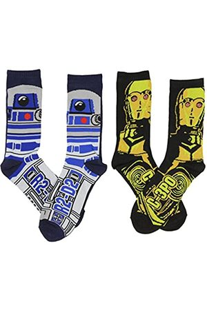 Hypnotic Hats Männer's Star Wars C-3PO & R2-D2 and Crew Socken 2er-Pack