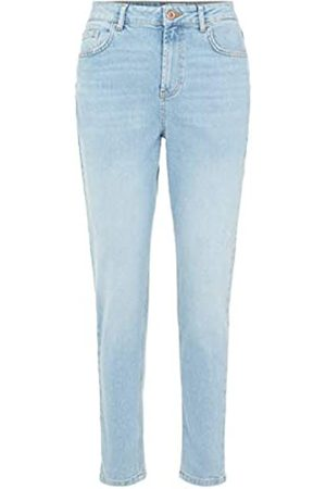 Pieces PIECES Female Mom Jeans High Waist Llight Blue Denim
