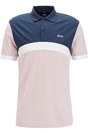 HUGO BOSS BOSS Herren Paule 3 Poloshirt aus Baumwolle mit abgerundetem Colour-Block-Design