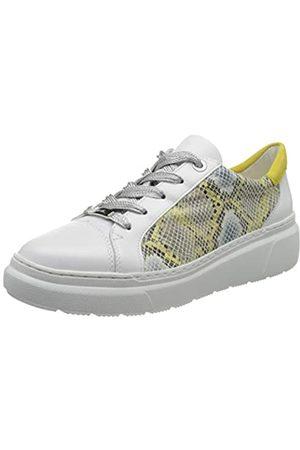 ARA Damen LAUSANNE Sneaker, (Weiss,Sun/Yellow 14)