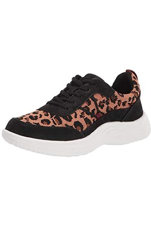 Clarks Clarks Damen Lulu Walk Sneaker, Mehrere (Schwarz/Tan Interest Textile)