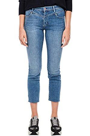 s.Oliver S.Oliver Damen Slim Fit: Jeans mit Sattelbund Blue 46