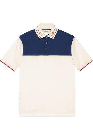Gucci Poloshirt aus Baumwolle mit besticktem Kragen