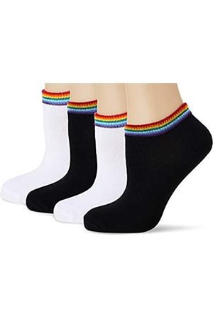 Urban Classics Unisex Rainbow No Show 4-Pack Socken