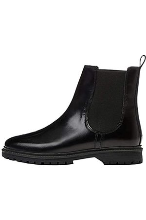 FIND Chunky Leather Chelsea Boots, Black)