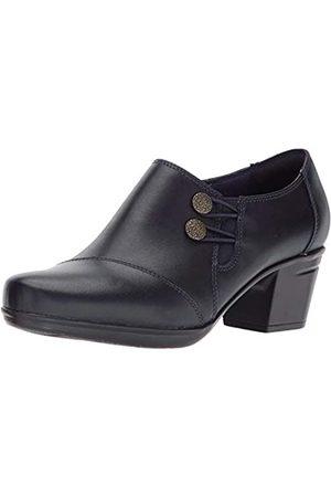 Clarks Clarks Emslie Damen Warren Slip-on Loafer Leder Schuhe, Blau (Marineblau (Leder))