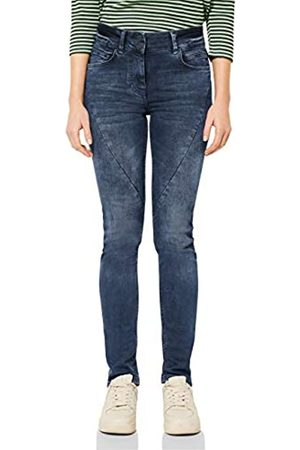"CECIL Cecil Damen Slim Fit Denim mit Nähten 32"""" Blue/Black Used wash 29"