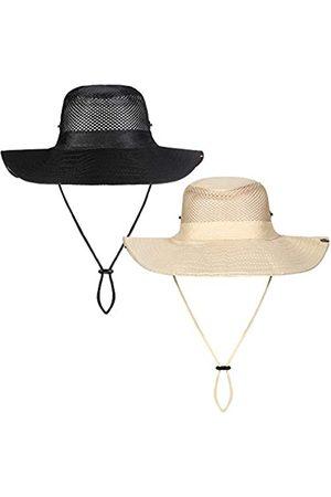SATINIOR 2 Stück Sonnenhüte Boonie Hats atmungsaktiv Mesh Sport Hüte breite Krempe Sonnenhüte verstellbar UV-Schutz Kappen für Damen Herren