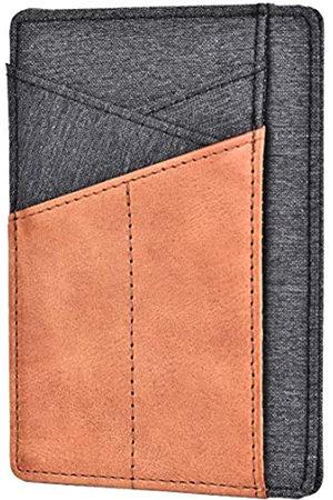 Spiex Slim Wallet Front Pocket Minimalist Echtleder RFID Blocking Card Holder - - Einheitsgröße