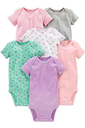 Simple Joys by Carter's Infant-and-toddler-bodysuits, Pink/Gray/Mint
