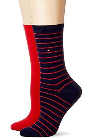 Tommy Hilfiger Frauen Small Stripe Socken, /Navy
