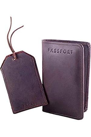 YAYAS PIEL YAYAS Reisepasshülle aus Leder + Gepäckanhänger – Reisepasshülle Brieftasche + Lederkennzeichnungen Reiseanhänger Handgefertigt