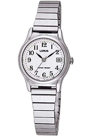 Lorus Klassik Damen-Uhr mit Palladiumauflage und Metallband RJ205AX9
