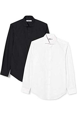 HIKARO Herren Business - HIK0024AM Formelle/Business Shirts, 48
