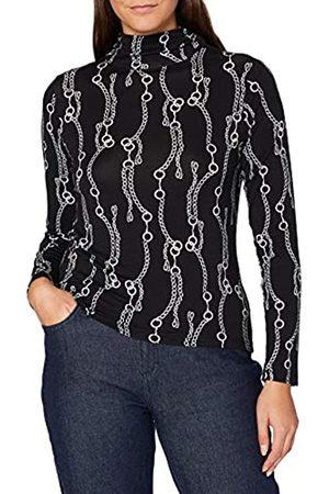 Blue Seven Damen Shirts - Damen Alloverdruck, Stehkr T-Shirt