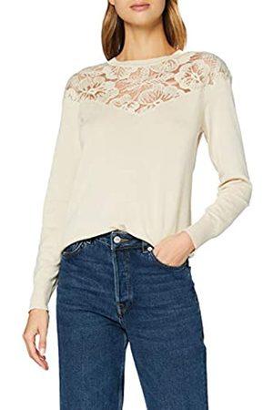 Desigual Damen Strickpullover - Womens JERS_GINEBRA Pullover Sweater, White