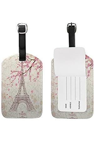 Use4 Use4 Gepäckanhänger mit Zebramuster, Schwarz / Weiß
