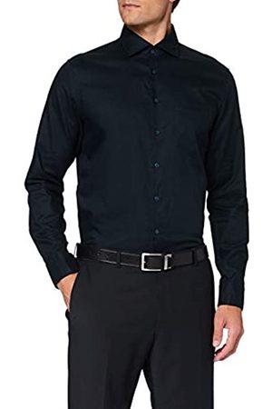 Seidensticker Herren Business - Herren Business Hemd - Bügelleichtes, tailliertes Hemd -Shaped Fit - Langarm - Kent-Kragen - Brusttasche - 100% Baumwolle