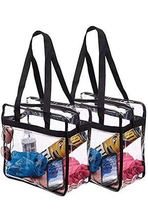 Bags for Less 2 Taschen für weniger Geldbeutel, Stadion-genehmigt, mit Griffen und Reißverschluss, 30,5 x 30,5 x 15