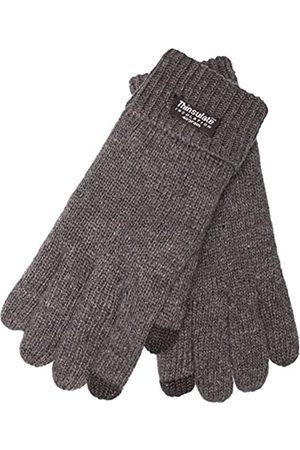 EEM Herren Handschuhe - Herren Strickhandschuhe LASSE mit Thinsulate Thermofutter - Grau - Small