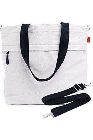 Caldo Caldo Canvas Market Tote – Große Reisetasche mit Außentasche mit Reißverschluss und verstellbarem Schultergurt (früher Abbot Fjord) (Grau) - TOTEMODEL4