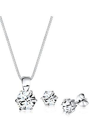 Elli Elli Schmuckset Damen Basic mit Swarovski® Kristalle in 925 Sterling Silber