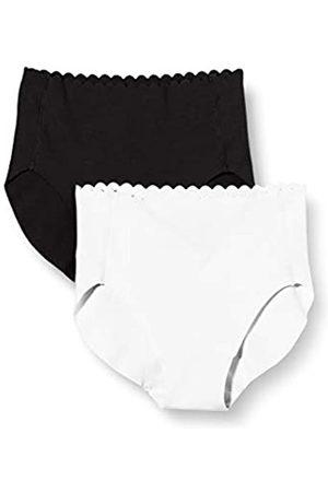 Dim Damen Culotte Haute Body Touch Coton X2 Unterwäsche, /Weiss