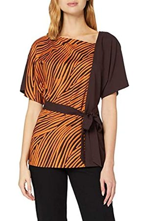 French Connection Damen Rosalind Belted Asymetric Neck TOP Bluse