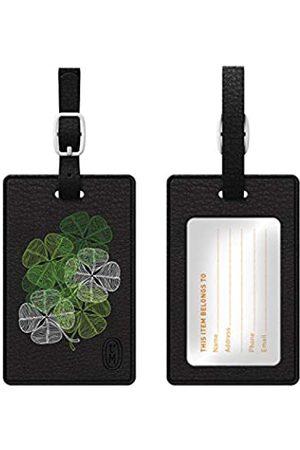 OTM Essentials OTM Essentials Kleearten Leder Bag Tag (schwarz) - TAGV1BLK-LE-03