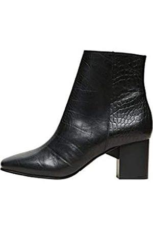 SELECTED Damen SLFZOEY Croco Boot B Stiefel, Black