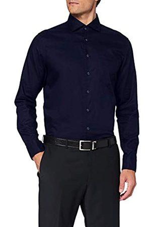Seidensticker Herren Business Hemd - Bügelleichtes, tailliertes Hemd -Shaped Fit - Langarm - Kent-Kragen - Brusttasche - 100% Baumwolle