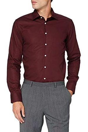 Seidensticker Herren X-Slim Langarm Uni bügelfrei 1 Klassisches Hemd, Bordeaux