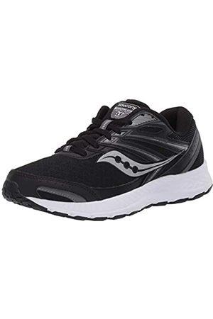 Saucony Women's Cohesion 13 Wide Walking Shoe, Black/White