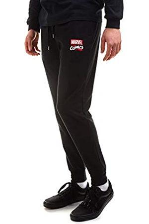 Marvel Herren Stack Logo Jog Pants Trainingshose, Black