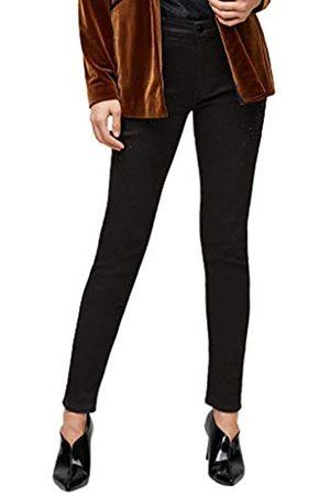 s.Oliver S.Oliver BLACK LABEL Damen Slim Fit: Jeans mit Schmucksteinen dark grey 36.32