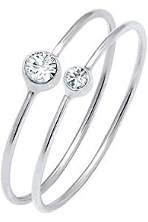 Elli Elli Ring Damen Set mit Swarovski Kristallen in 925 Sterling