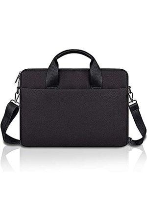 D.YMQGG Laptop-Schultertasche, Laptop-Hülle mit Schultergurten und Griff, Laptop-Aktentasche für Damen Herren, kompatibel 13,3 14 15 15,4 15,6 Zoll (33,3 39,6 cm) Grau
