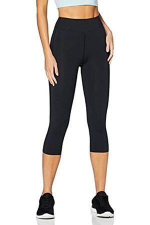 AURIQUE Amazon-Marke: AURIQUE Damen Capri-Lauf-Leggings, Schwarz (Black), 38